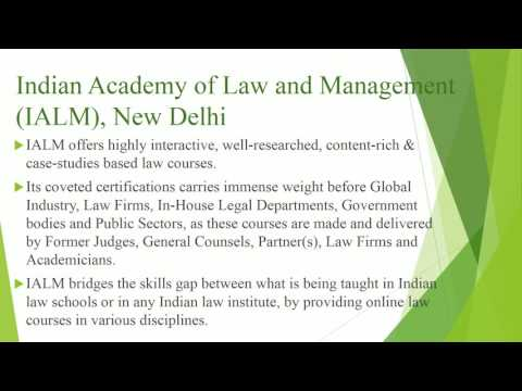 Online Law Courses And Degrees in India