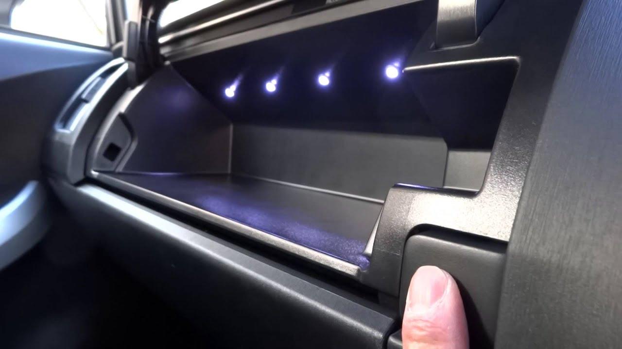 Prius アッパーグローブボックスled照明 Youtube