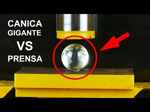 Thumbnail: CANICA GIGANTE VS LA APLASTADORA ( Crushing GIANT Marble with Hidraulic Press )