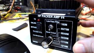 #108: Adding a CW-SSB Mode switch to the HF Packer V4 Amplifier (ham radio)