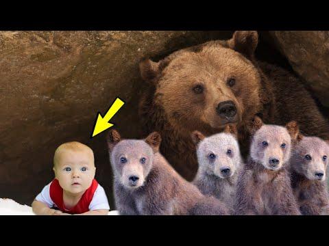 Увидев в берлоге медведя маленькую девочку, егерь был в изумлении и потерял дар речи от ужаса...