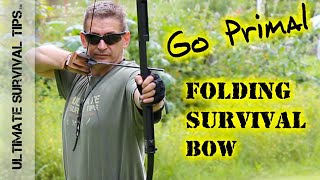NEW! BEST Survival / Hunting / Bug Out Bow EVER? Go Primal - Folding Long Bow - Archery / Bug Out