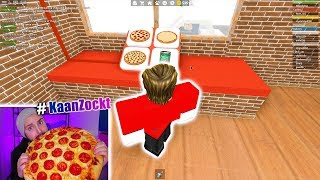 I HAVE A NEW JOB: 1.MAL IN ROBLOX PIZZERIA WORK! Cashiers, bakers, pizza taxi #KaanZockt