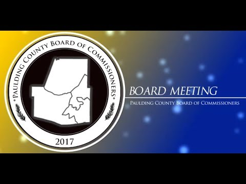 Board Meeting - Paulding County Board of Commissioners