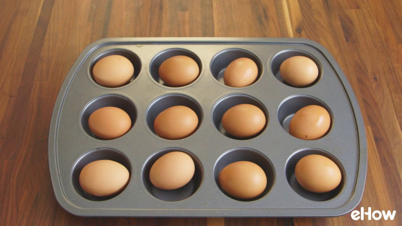 How to Use a Muffin Pan to Cook Hard Boiled Eggs  YouTube