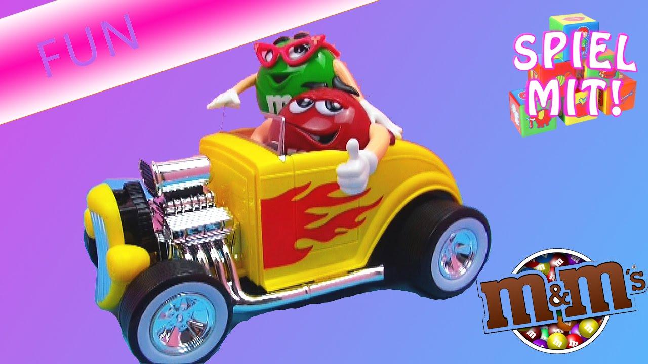 M und spender hot rod car toy candy dispenser