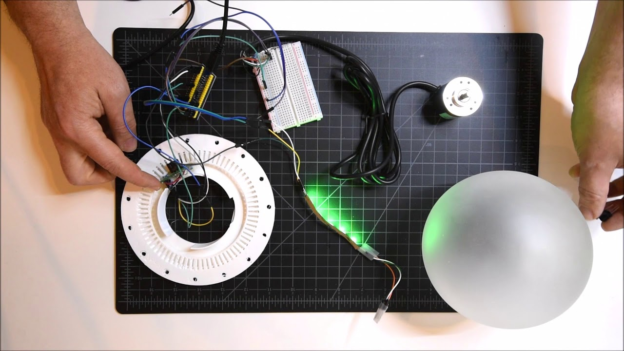 STM32 quadrature optical rotary encoder and WS2812B neopixel RGB controller