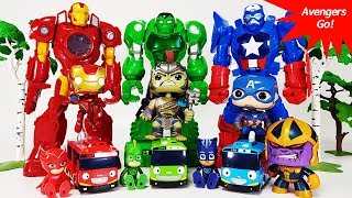 Go Avengers, Thanos Appeared with Dinosaurs~! Tyranno Rex, Hulk, Spider Man, Iron Man