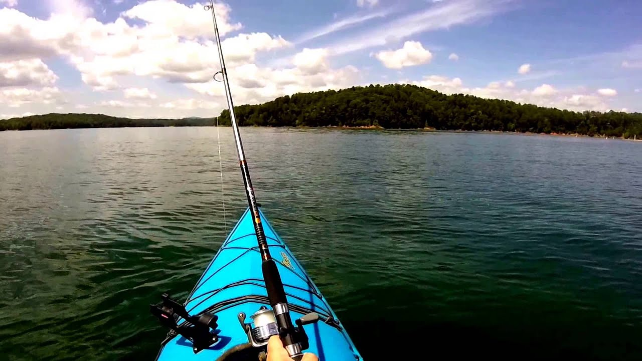 Carters lake kayaking fishing part 1 youtube for Carters lake fishing report