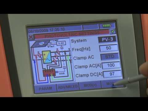 Testing efficiency of PV Solar systems SOLAR300N HT instruments