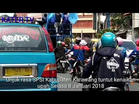 Unras SPSI Kabupaten Karawang Tuntut Kenaikan Upah