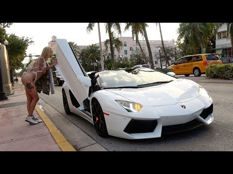 Picking Up Uber Riders In A Lamborghini Aventador! - YouTube