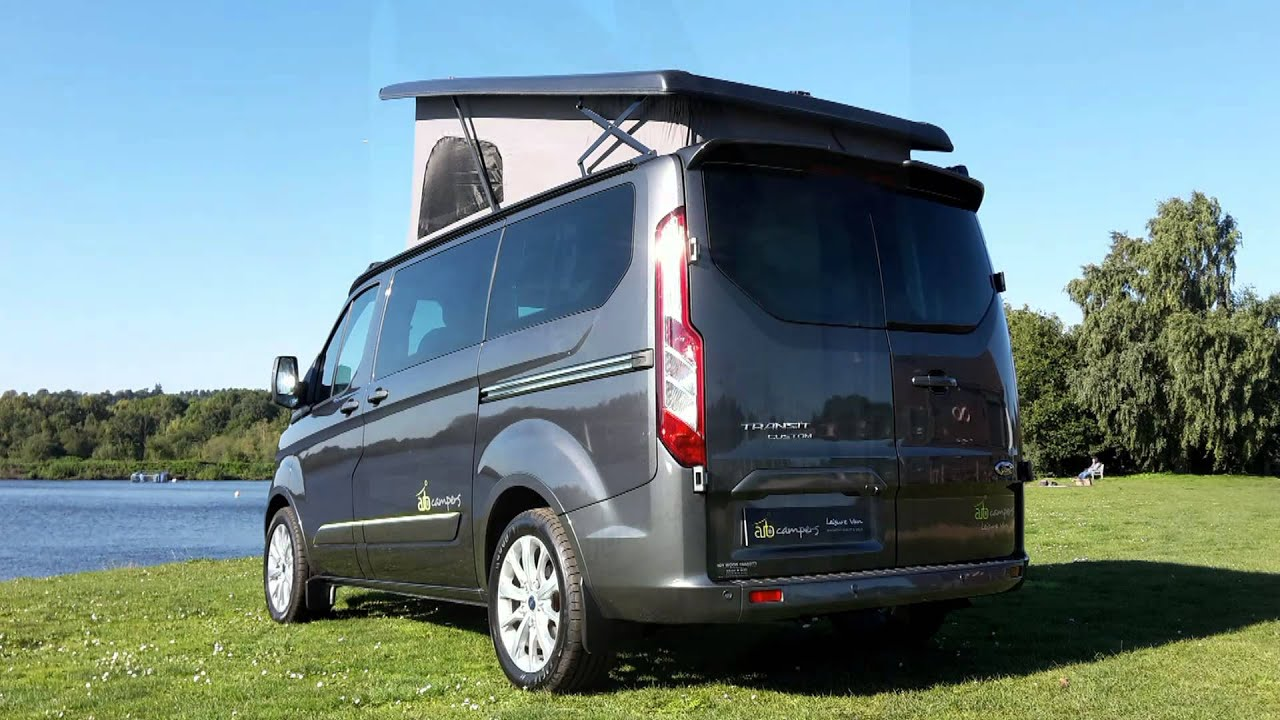ford transit custom camper auto campers leisure van youtube. Black Bedroom Furniture Sets. Home Design Ideas