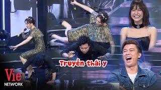 Đang thể hiện với trai 6 múi, Trấn Thành té sấp mặt vì bị Hari Won đè đầu cưỡi cổ | Giọng Ca Bí Ẩn