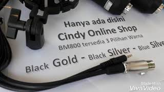 Mic Microphone Condenser - BM800 Smule Vlog Youtube Broadcasting with BM 800