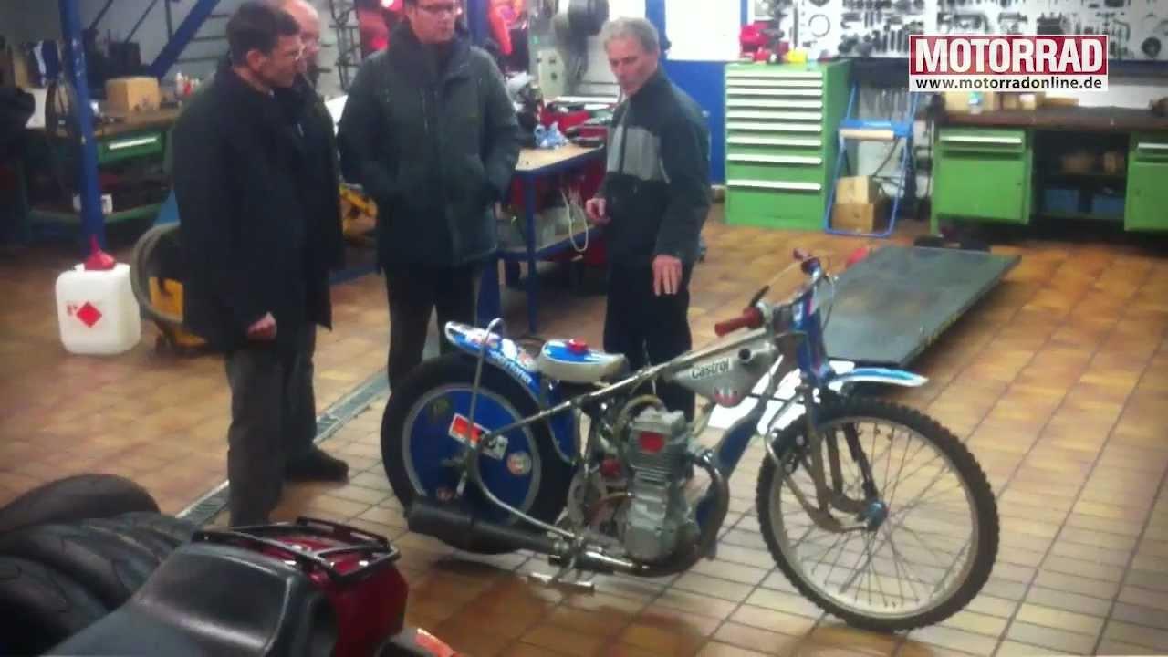 Besuch bei Motorrad-Legende Karl Maier - YouTube