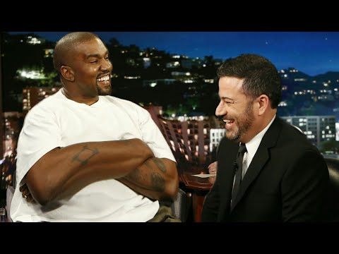 Kanye West on Jimmy Kimmel But Its Awkward
