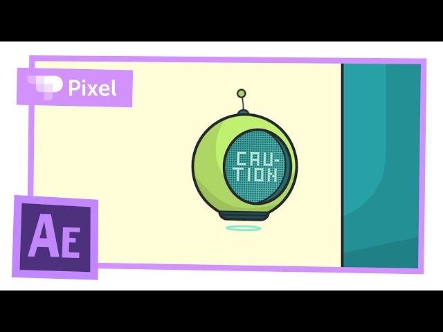 Анимация зависшего робота в Adobe After Effects