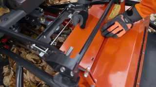 How to attach a flail mower to a Husqvarna P 524 Front Mower