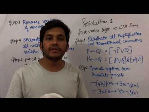 Artificial Intelligence 29  Resolution Steps involved in converting first order logic to cnf