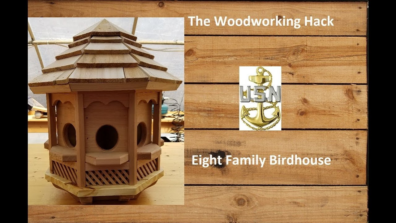 Building An Eight Sided Birdhouse Youtube