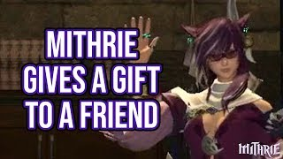 FFXIV 2.3 0382 Mithrie Gives A Gift (Honeyjade)