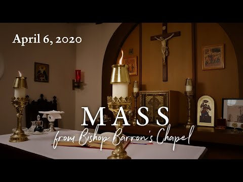Mass for Monday of Holy Week with Word on Fire (4/6/2020)
