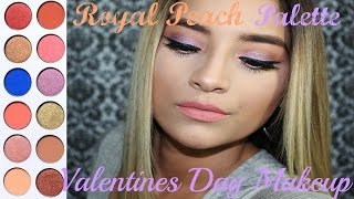 Kylie Royal Peach Palette Makeup Tutorial l Valentines Day Look #1
