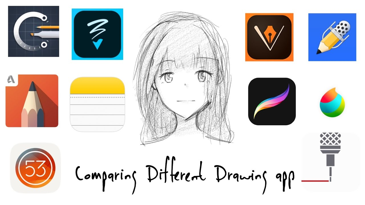 Comparing Different Drawing App Ipad Pro 9 7 Youtube