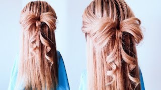 ★ БАНТ ИЗ ВОЛОС. Самый ПРОСТОЙ способ. Прическа в ШКОЛУ  ★ QUICK AND SUPER EASY Hair BOW by LOZNITSA