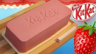 DIY - Гигантский КитКат КЛУБНИКА / САМЫЙ РЕДКИЙ КИТКАТ В МИРЕ  / Giant KitKat Strawberry
