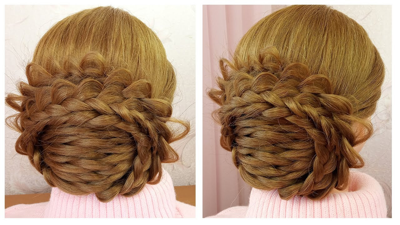 Beautiful Wedding Hairstyle Flower Bun 🌺 Coiffure simple ...