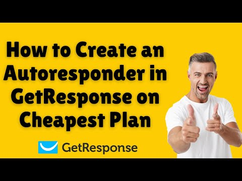 How to Create an Autoresponder in GetResponse on Cheapest Plan thumbnail