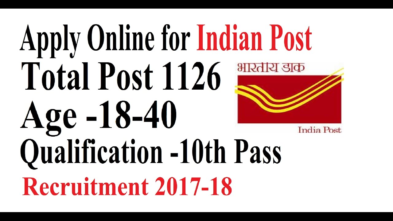 Post Office Vacancies for 10th pass 1126 Posts |Government Job Alert ...