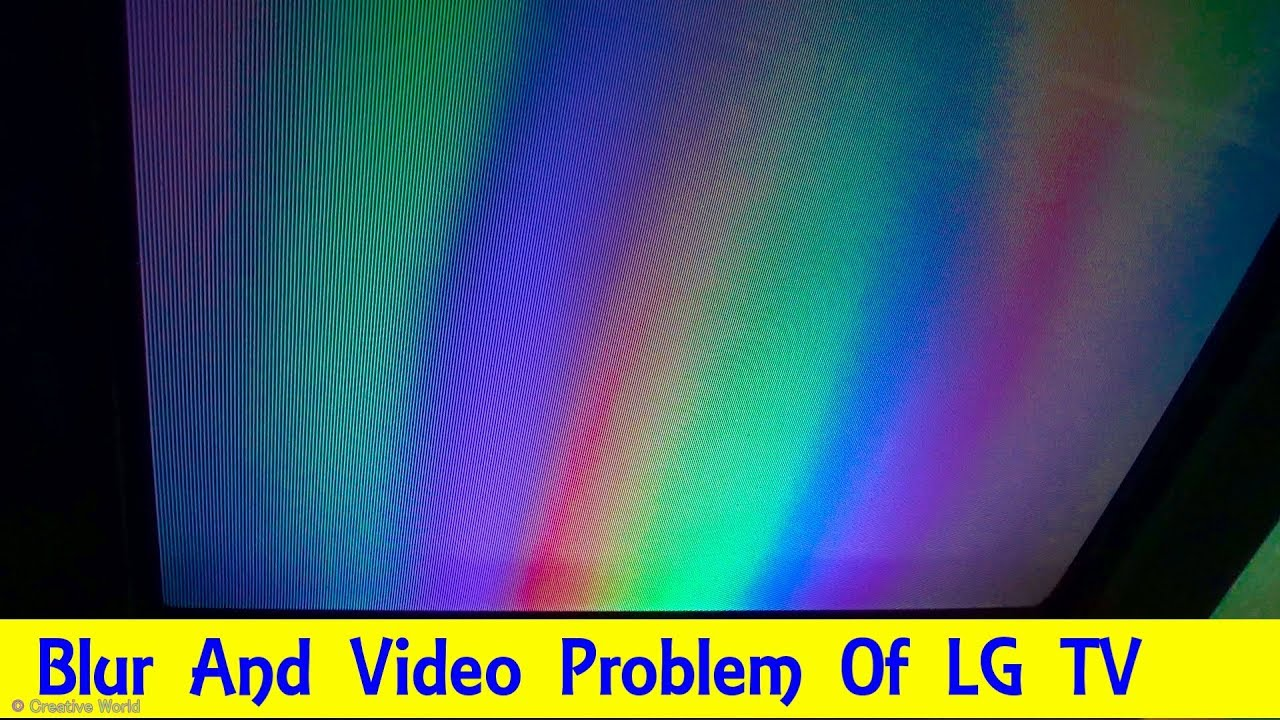 How To Repair Blur/ Video Problem Of LG Color Television - Bengali Tutorial