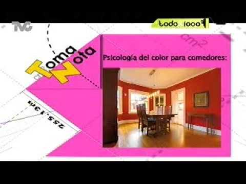 Psicolog a del color para comedores txm youtube - Colores para comedores ...