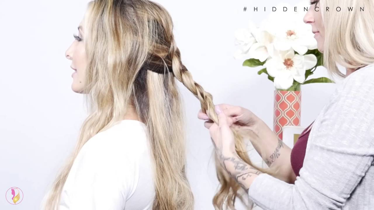 Fishtail Combo Braid Hairstyle - Hidden Crown - YouTube