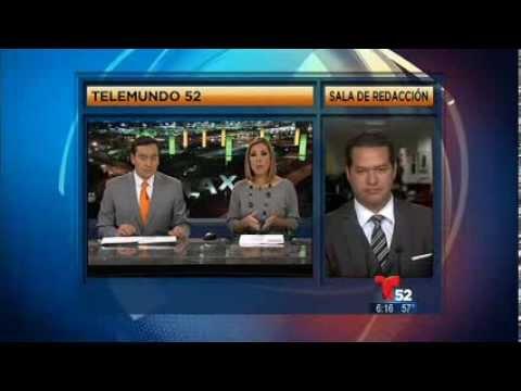David Urias en el noticiero de Telemundo 52
