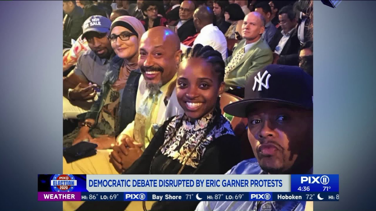 Democratic debate disrupted by Eric Garner protests