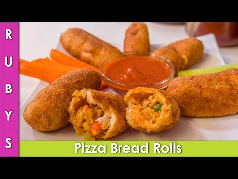 Pizza Rolls Lunch Box Tiffin Idea Recipe in Urdu Hindi - RKK