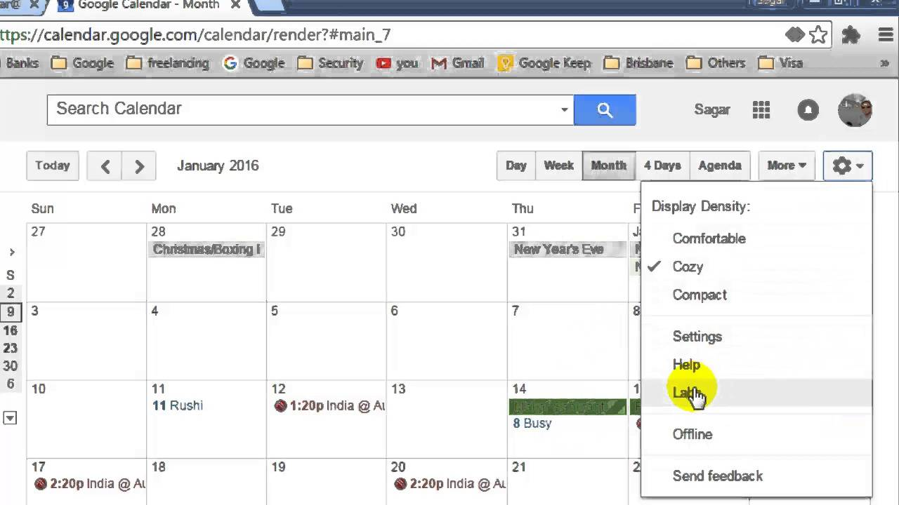 Year Calendar Google : How to show year view in google calendar youtube