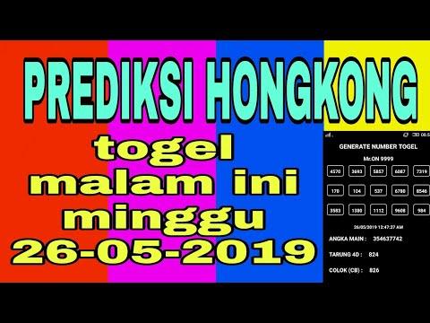 HK malam ini minggu 26/05/2019 | Rumus Harian Togel 2d/3d/4d