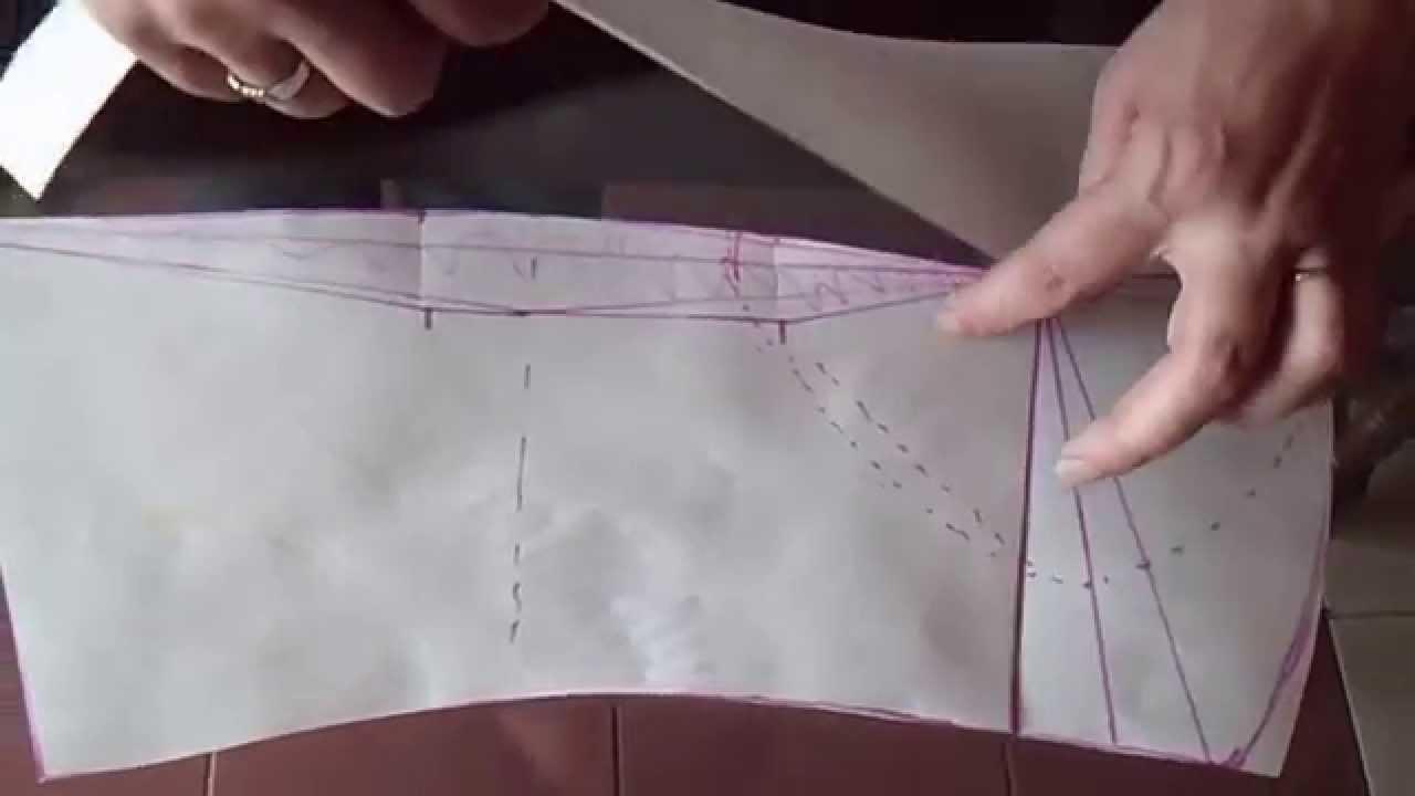 a16bfee6e0 como trazar el corset base Delantero