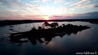 HD drone Ile de Cuhan   La Trinité sur Mer   Morbihan