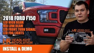 400% BRIGHTER!! 2018 Ford F150 HID and LED Headlight Bulbs Installl | Headlight Revolution