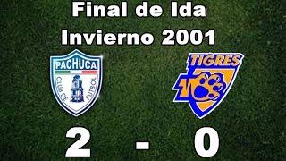 Pachuca vs Tigres UANL 2-0 Final de Ida - Invierno 2001