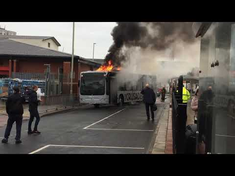 Go North East Bus On Fire
