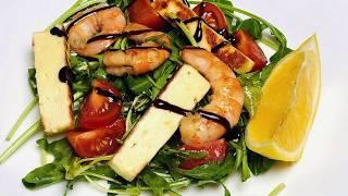 Салат с руколой и жареным сыром | Rocket salad with grilled cheese