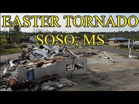 Easter Sunday Tornado Damage - Largest Tornado In Mississippi