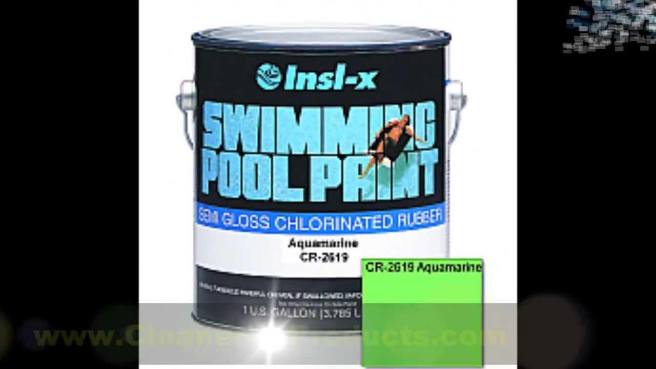 Swimming Pool Paint INSL-X Aquamarine Pool Paint Chlorinated Rubber ...